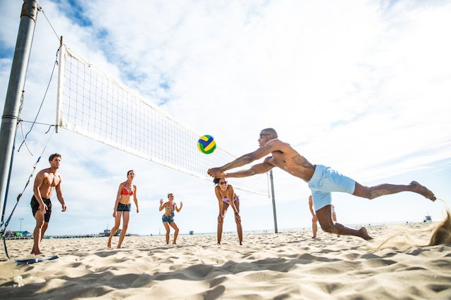 Beach Volleyball with Friends