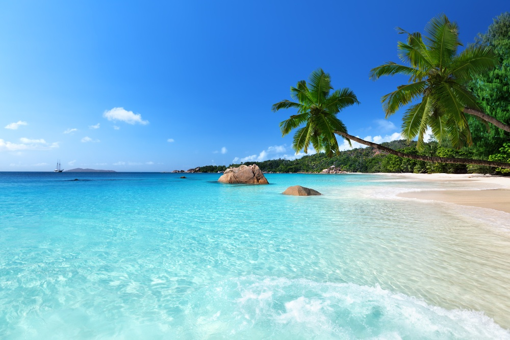 Anse Lazio beach at Praslin island, Seychelles-1
